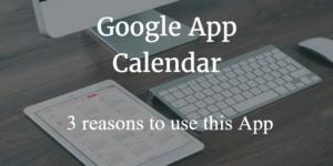 Google App Calendar